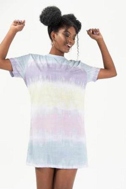 Oferta de Vestido de Algodón Oversize Tie Dye H&O por 25,98€