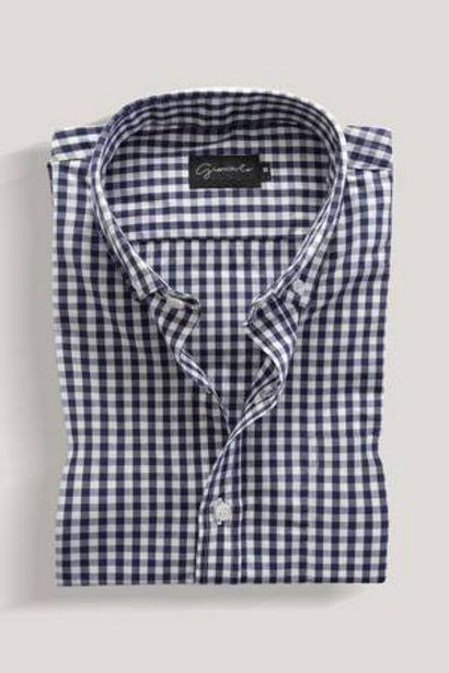 Oferta de Camisa de Algodón Estampada a Cuadros Giancarlo por 36,99€
