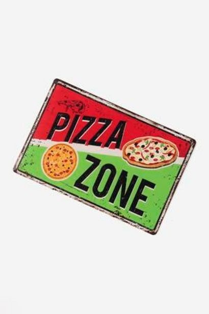 Oferta de Placa decorativa Pizza Zone Creative por 2,5€
