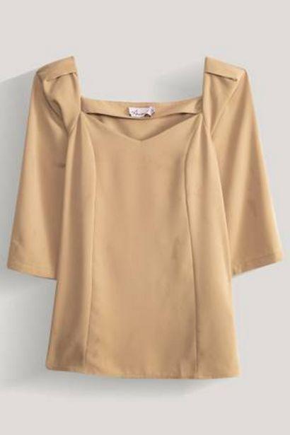 Oferta de Blusa Unicolor Escote Corazón Amanda por 19,59€