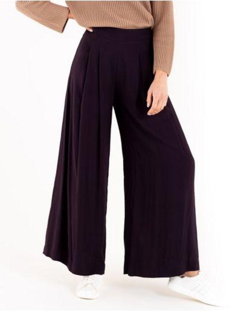 Oferta de Pantalón para mujer negro Palazzo tiro súper alto con cintura elástica por 189900€