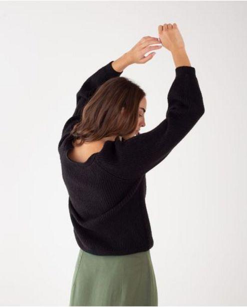 Oferta de Suéter para mujer negro manga larga con mangas englobadas por 189900€