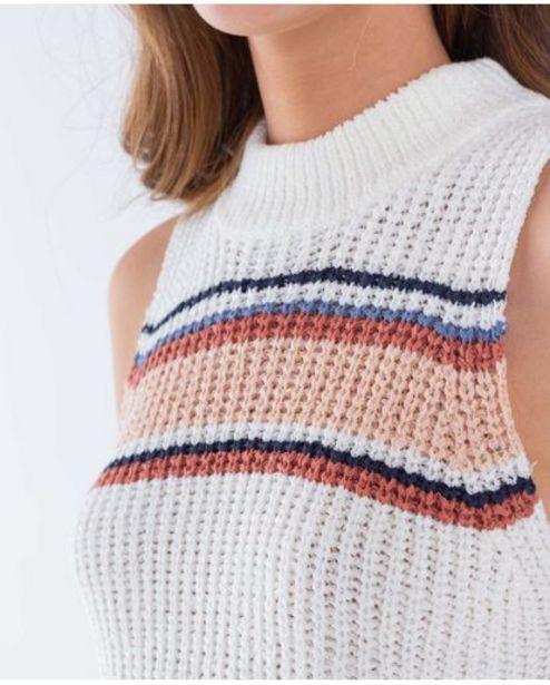 Oferta de Camiseta para mujer manga sisa y cuello alto en bloques de color y tejido de punto suave al tacto por 74950€