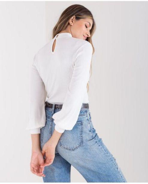 Oferta de Camiseta para mujer cruda manga larga con mangas englobadas por 109900€