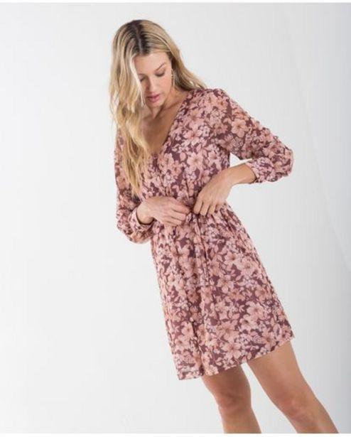 Oferta de Vestido corto para mujer rosa manga larga con estampado floral por 189900€