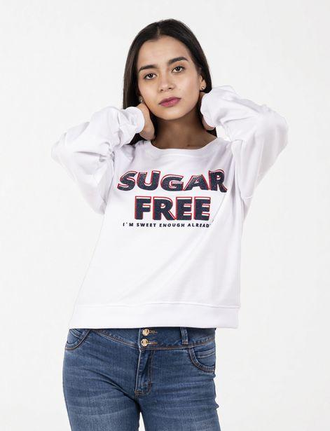 Oferta de Buzo Sugar Free blanco por 22,9€