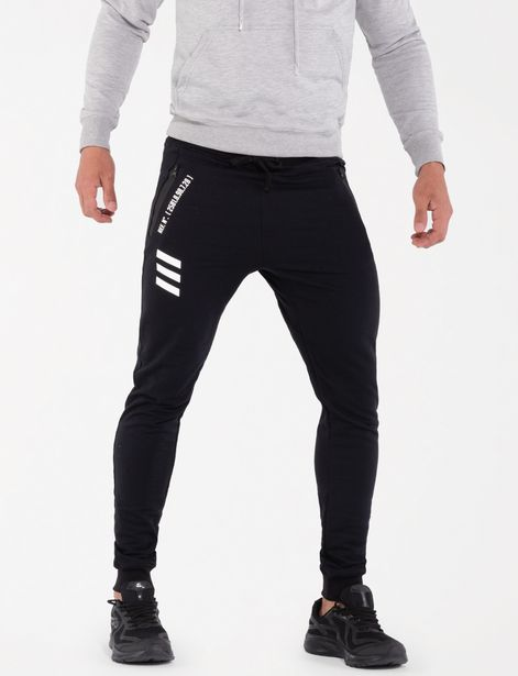 Oferta de Jogger fleece negro por 29,9€