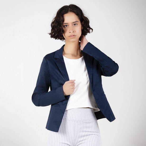 Oferta de Blazer azul frente abierto por 49,99€
