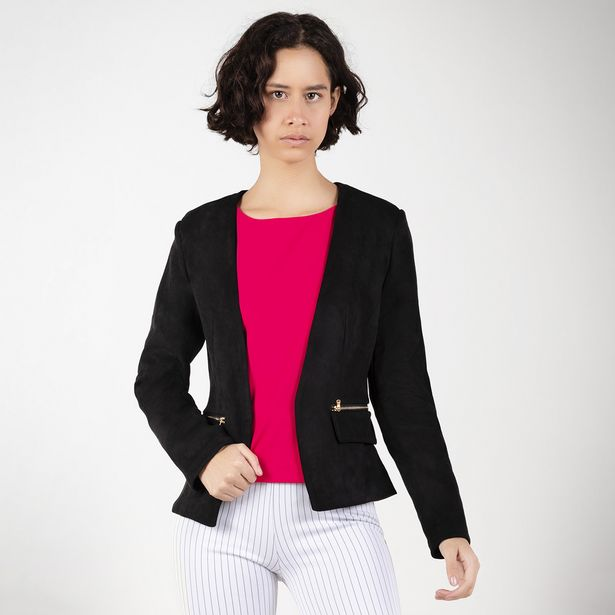 Oferta de Blazer negro frente abierto por 59,9€