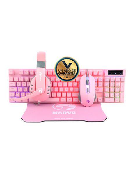 Oferta de Kit Gamer 4 en 1 CM-370 PK rosado por 47,99€