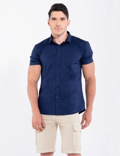 Oferta de Camisa llana azul marino por 31,9€