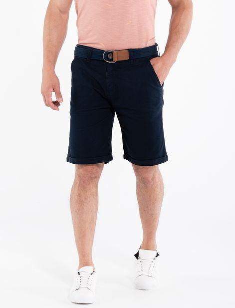 Oferta de Bermuda con cinturón azul marino por 32,95€