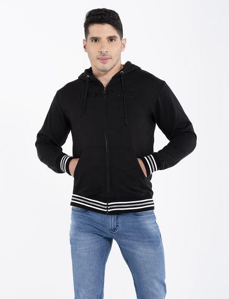 Oferta de Hoddie fleece negro por 32,95€