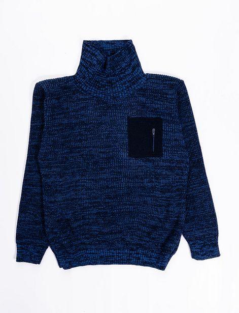 Oferta de Sweater cuello tortuga azul por 21,9€