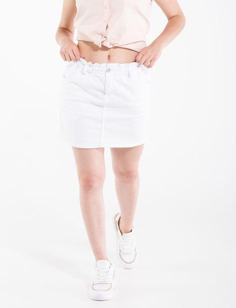 Oferta de Falda encarrujada blanca por 29,9€