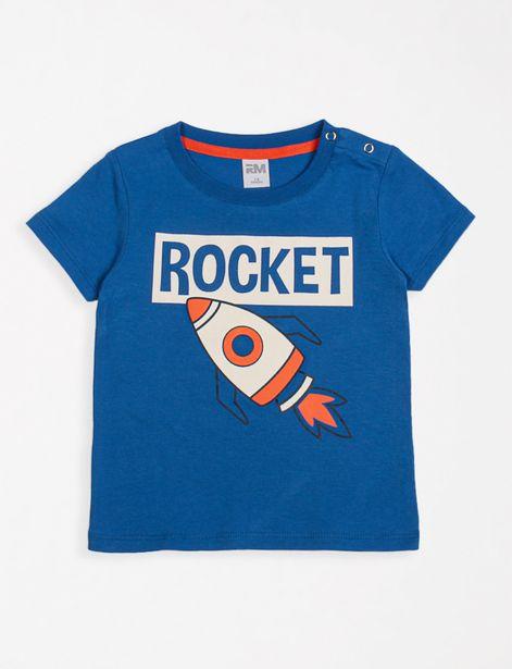 Oferta de Camiseta Rocket azul por 7,99€