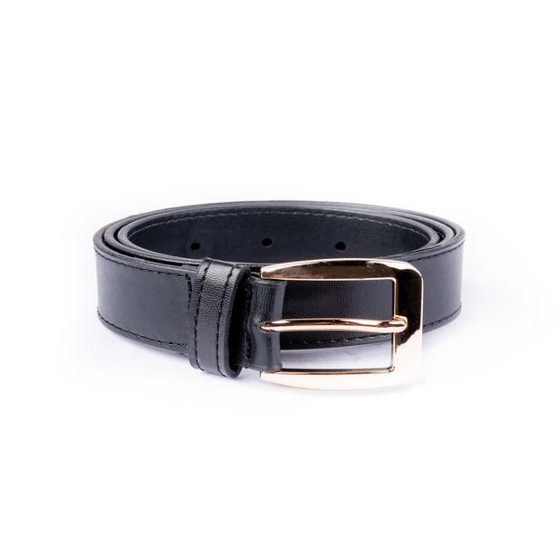 Oferta de Cinturón negro con ojal por 12,9€