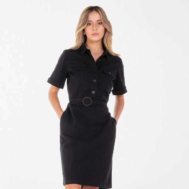 Oferta de Vestido clásico negro por 39,95€