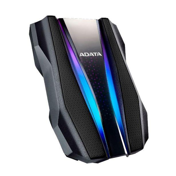 Oferta de DISCO DURO EXT 2.5 ADATA 1TB 3.2 AH770G ANTI-GOLPE NEGRO RGB por 89,27€