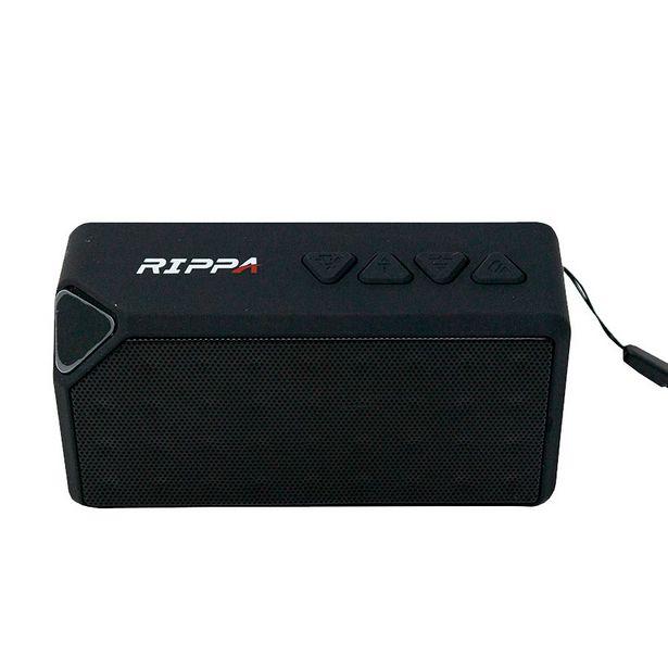 Oferta de PARLANTE PORTATIL BLUETOOTH RIPPA 4W/ RADIO / USB / TF CARD / NEGRO por 11,59€