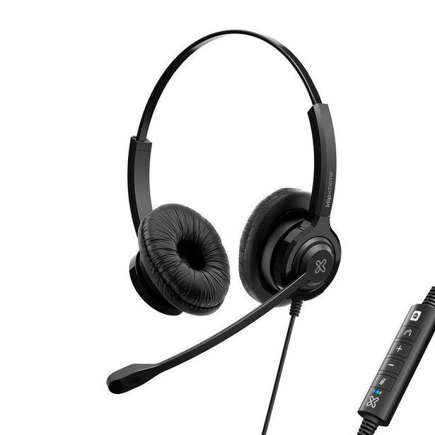 Oferta de AUDIFONO + MICROFONO KLIP XTREME VOXPRO-S VIDEO CONFERENCIA / USB/ CAPSULA DE CONTROL DE VOZ / CANC por 44,63€