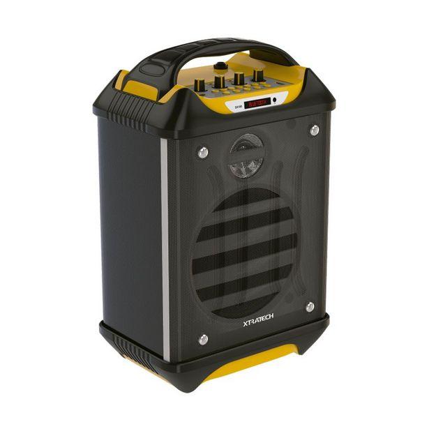 Oferta de PARLANTE BLUETOOTH RECARGABLE XTRATECH - 45W / USB - MICRO SD/RADIO/ 2 MICROFONOS INALAMBRICOS / AMA por 71,41€