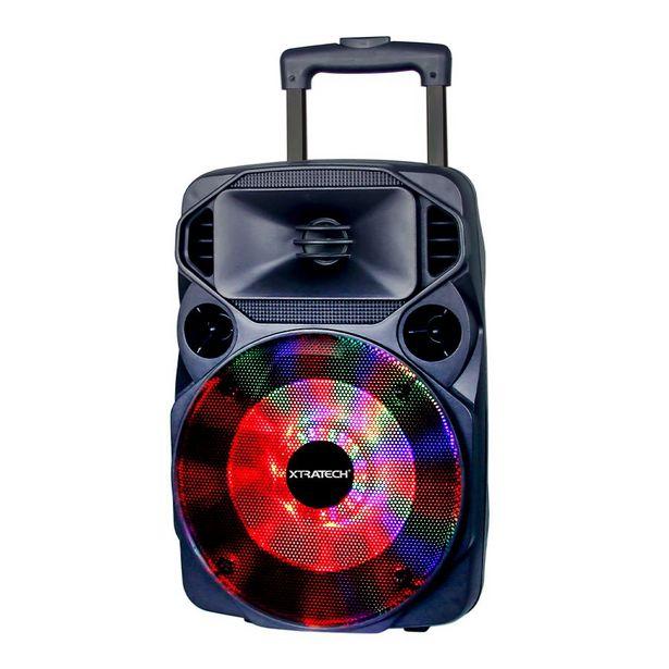 """Oferta de PARLANTE BLUETOOTH BOOM BOX XTRATECH 8"""" - 60W RECARGABLE / USB - MICRO SD/RADIO/ 2 MICROFONOS INA por 80,34€"""
