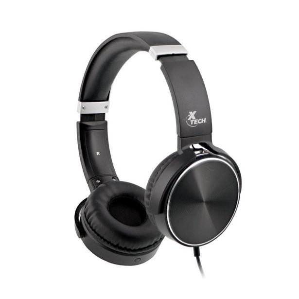 Oferta de AUDIFONO + MICROFONO SPIRAL XTECH ON EAR 3.5mm / NEGRO por 14,27€
