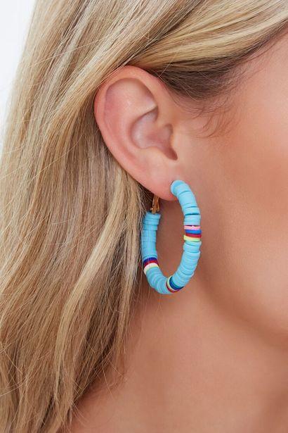 Oferta de Beaded Hoop Earrings por 3€