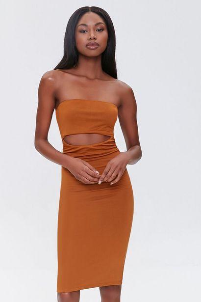 Oferta de Cutout Bodycon Tube Dress por 12€