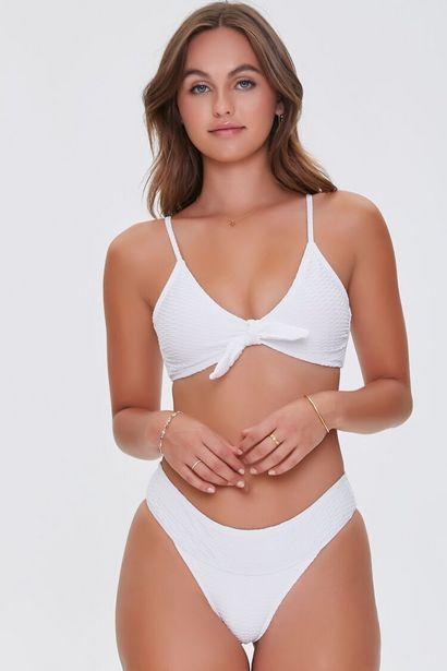 Oferta de Knotted Textured Bikini Bottoms por 11€