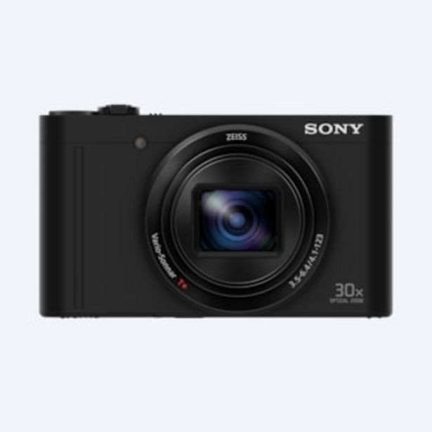 Oferta de Cámara compacta WX500 con zoom óptico de 30x por 392€