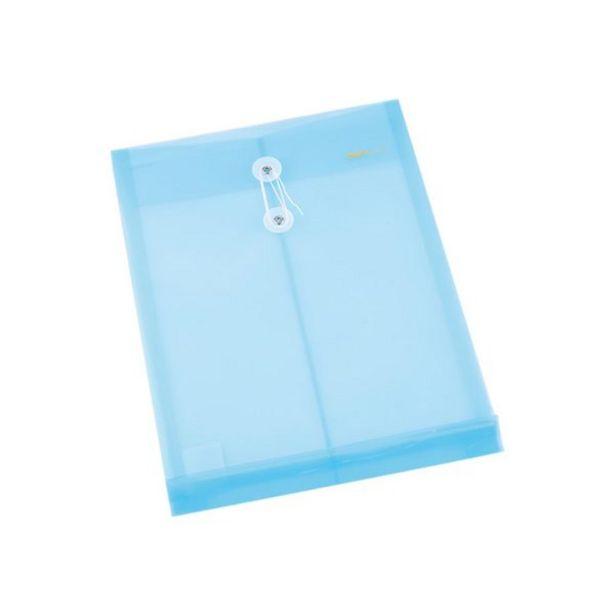Oferta de  Sobre Plástico Deli Vertical Cierre Con Hilo – Colores... por 1,05€