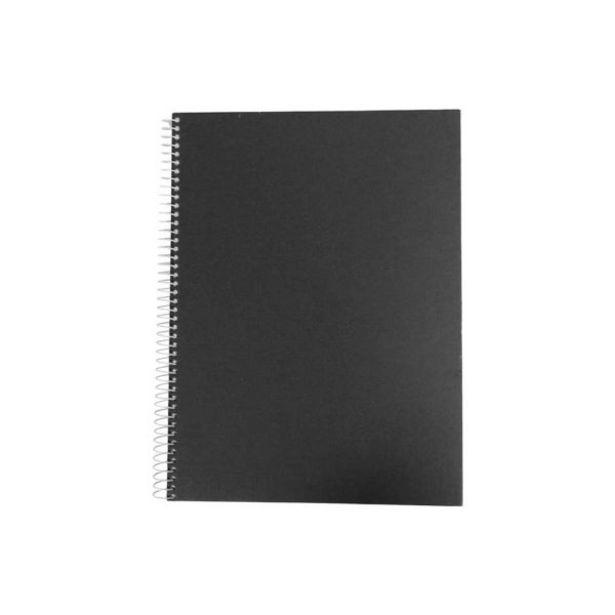 Oferta de  Cuaderno Ejecutivo Pasta Dura Ideal Negro Cdr – 100 Ho... por 3,2€