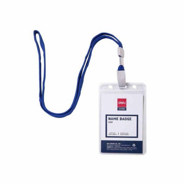 Oferta de  Portacredencial Vertical Deli Con Cordón – Azul por 0,65€