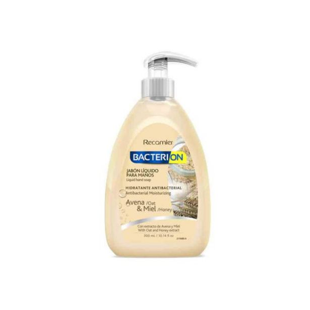 Oferta de  Jabón Liquido Antibacterial Bacterion Avena 300ml por 2,7€