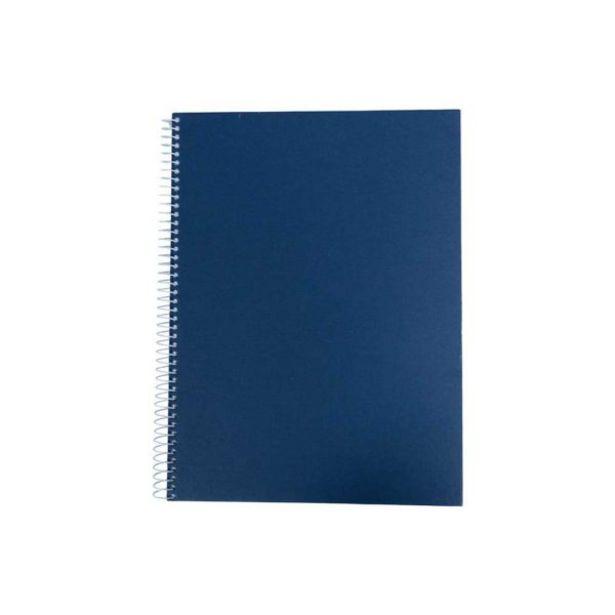 Oferta de  Cuaderno Ejecutivo Pasta Dura Ideal Azul 1l – 100 Hoja... por 3,2€