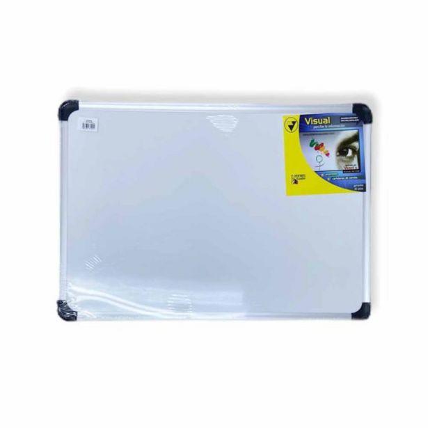 Oferta de  Tablero De Corcho Con Marco De Aluminio Visual 90×60 Cm por 21,4€