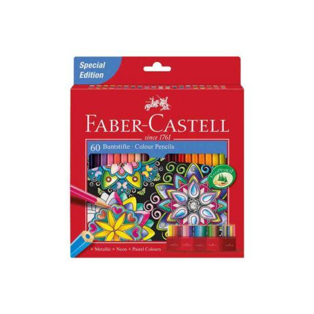 Oferta de  Lápices De Color Faber Castell – 60 Colores por 15,45€