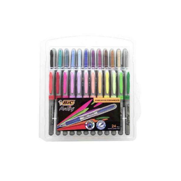 Oferta de  Marcador Bic Marking Grip Ultrafino – 24 Colores por 19,95€