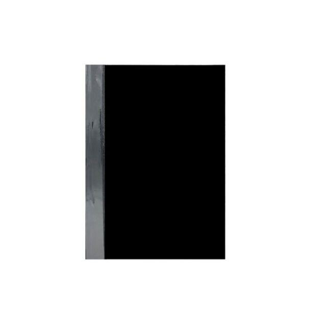 Oferta de  Folder Plástico Oficio Transparente C/Vincha – Negro por 1,25€
