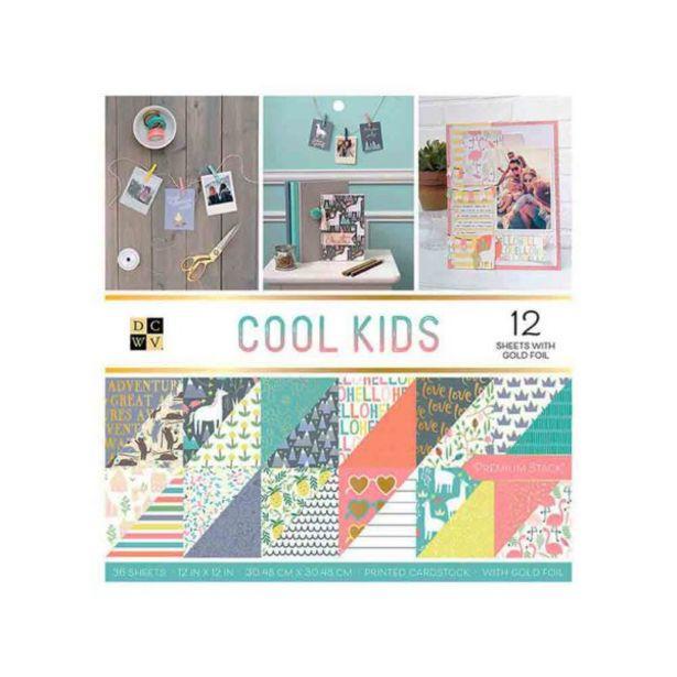 Oferta de  Papel Estampado Dcwv 12×12 In Cool Kids – 36 Piez... por 19,7€