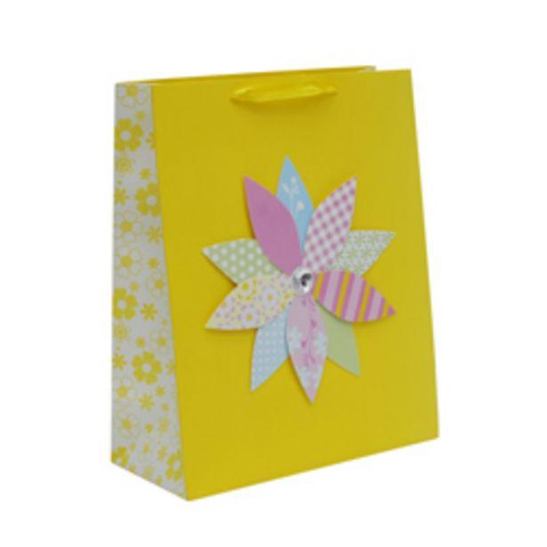Oferta de Funda de Regalo Amarilla con Flor por 0,93€