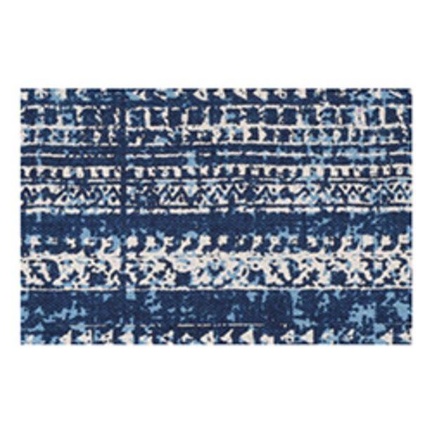 Oferta de Alfombra Figures Azul 60x90cm por 11,66€