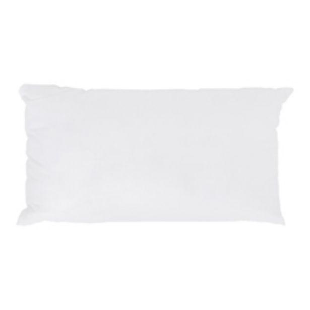 Oferta de Almohada Plumón Algodón Blanca 50x90cm por 12,48€