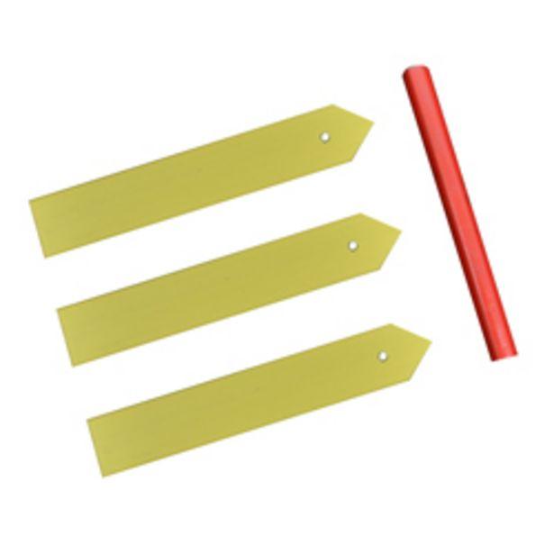 Oferta de Marcadores Plásticos Amarillo para Plantas en Set por 1,65€