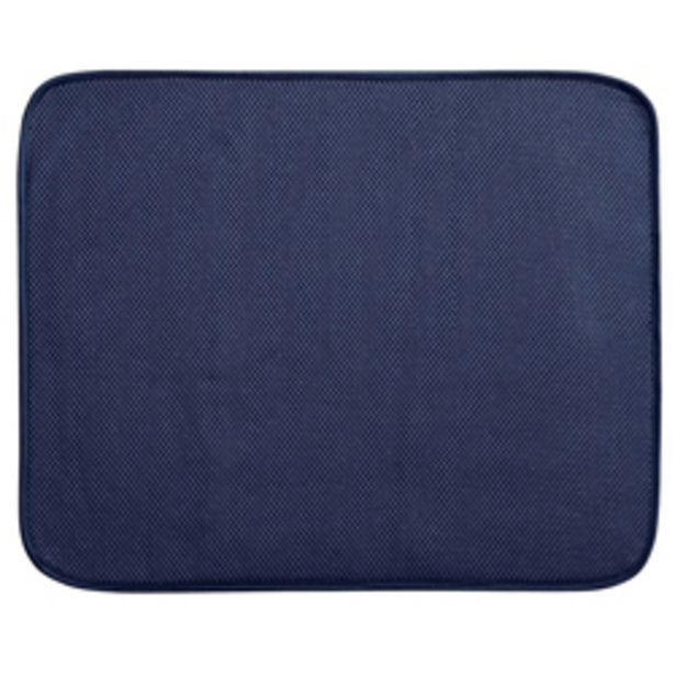 Oferta de Tapete Dry Mat para Cocina Azul Blanco 46x41cm por 11,66€
