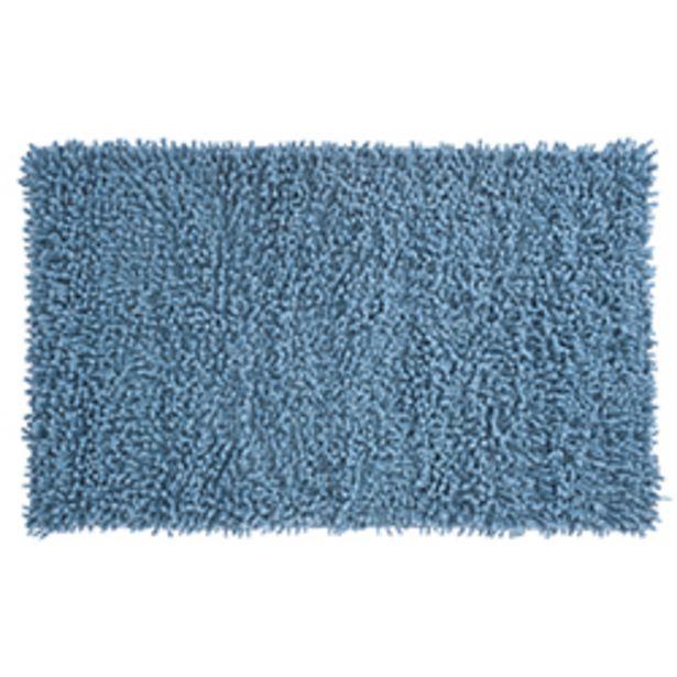 Oferta de Alfombra de Baño Rizo Azul 45x75cm por 15,55€