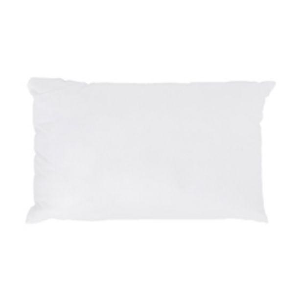 Oferta de Almohada Plumón Algodón Blanca 50x70cm por 8,5€