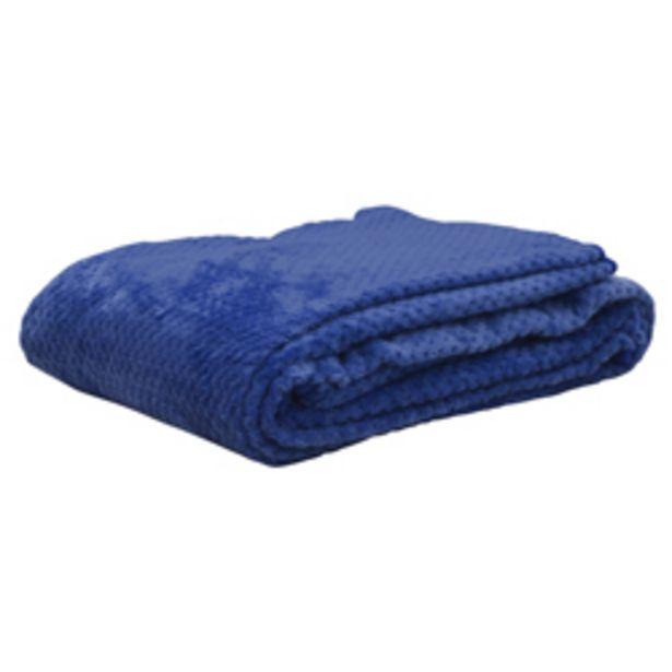 Oferta de Cobija Plush Azul por 21,28€